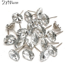20Pcs/Set Diamond Pattern Crystal Upholstery Nails Button Tacks Studs Pins 20mm Dia Sofa Wall Decoration Furniture Accessories