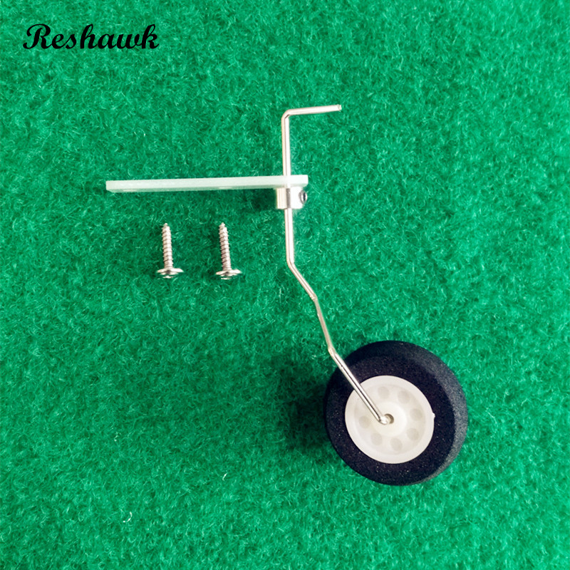 20 pcs/lot 25~40class steering tail wheel COMBO fiber glass bracket + wheel + steering system aircraft tail wheel<br>