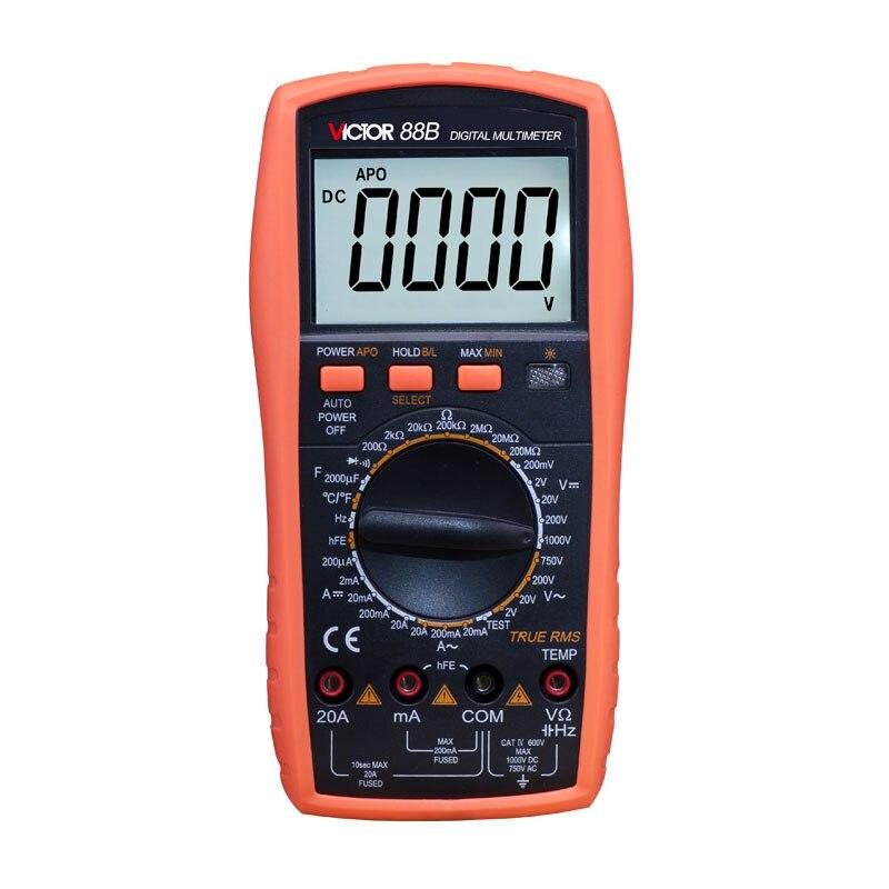 VICTOR 88B  Handheld Large-screen multimeter LCD display Accurate detection digital multimeter <br>