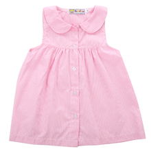 2017 Baby Gap Toddler Girl Striped Sleeveless Turn-down Collar Cotton A-Line Dress Shirt Size 0-5Y AU(China)