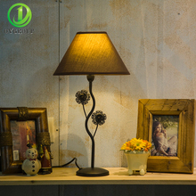 Modern Bedroom Table Lamps Fabric Lampshade Black Iron Base E14 Study LED Lighting Home Decor Living Room Bedside Hotel Bar