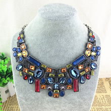 2015 New A Brand Crystal Pendant Necklace Designer Women Fashion Necklaces & Pendants Jewelry Name Statement Necklace For Women