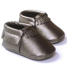 ROMIRUS Brand fashion baby shoes boys baby shoes soft bottom kids first walkers Leater Tassels Shoes baby booties best love(China)