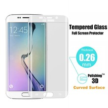 New Arrival Full Cover Tempered Glass Screen Protector For Samsung Galaxy S6 Edge Transparency 0.2mm 3D 9H Imported Glue