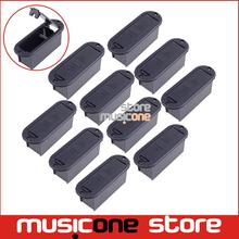 10pcs CHEAP Quality 9V Battery Box 81.5MM*29.5MM Case for Active Guitar and Bass Pickup platic black color Free shipping
