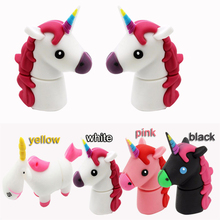 Hot Sale Cartoon USB Flash Drive Pen Drive 8GB 16GB 32GB Black Horse USB Stick External Memory Storage Pen Drive 16 gb hard disk