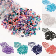Free shipping 500pcs Loose Charm 4MM round Glass AB Seed beads Color pick(China)