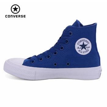 NUEVA Converse Chuck Taylor All Star II de Alta de los hombres de las mujeres zapatillas de deporte zapatos de lona Zapatos de Skate de color puro Clásico 150143C