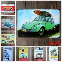 20x30 cm Famoso Coche VW Bus Marca Vintage carteles de Chapa de Pared arte Decoración House Cafe Bar Pub Pintura Retro Placa de Garaje YN043