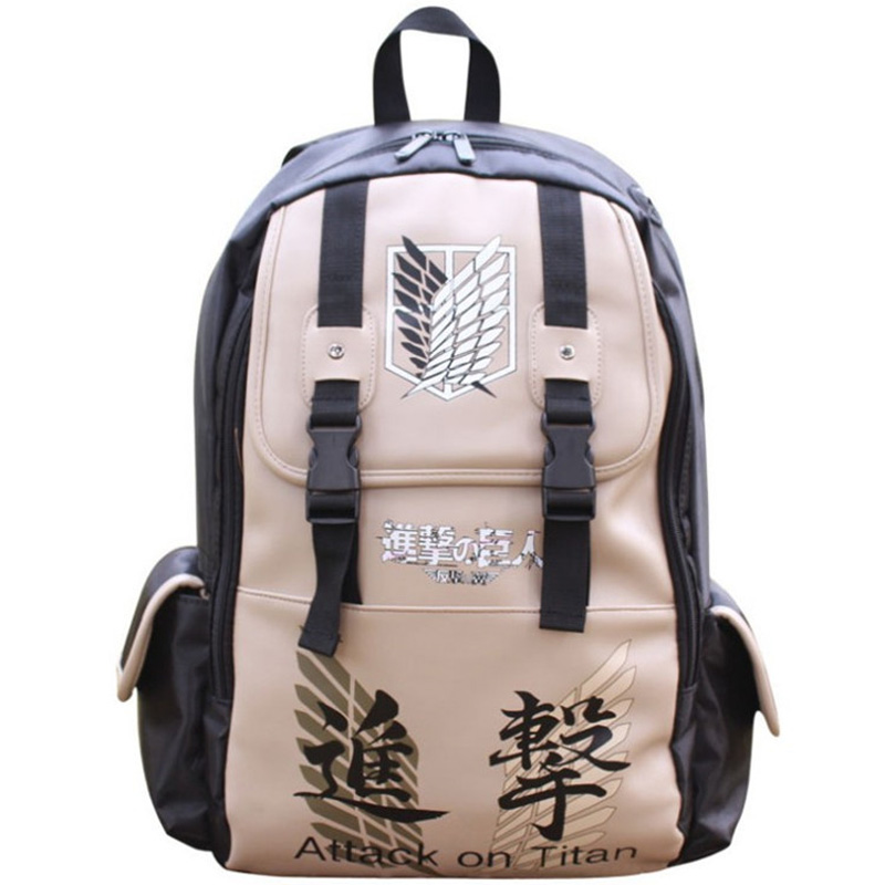 Hot sale  travel backpack canvas school bag attack on Titan backpacks laptop bags for students<br><br>Aliexpress