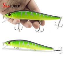 1PCS/lot 14 cm 23.7 g Fishing Lure Minnow Hard Bait with 3 Fishing Hooks Fishing Tackle Lure 3D Eyes Free Shipping(China)