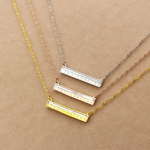 New Arrival Roman Numerals Rectangle Pendant White Shell Abacus Silver Gold Rose Gold Color Short Necklace Free Shipping cs go