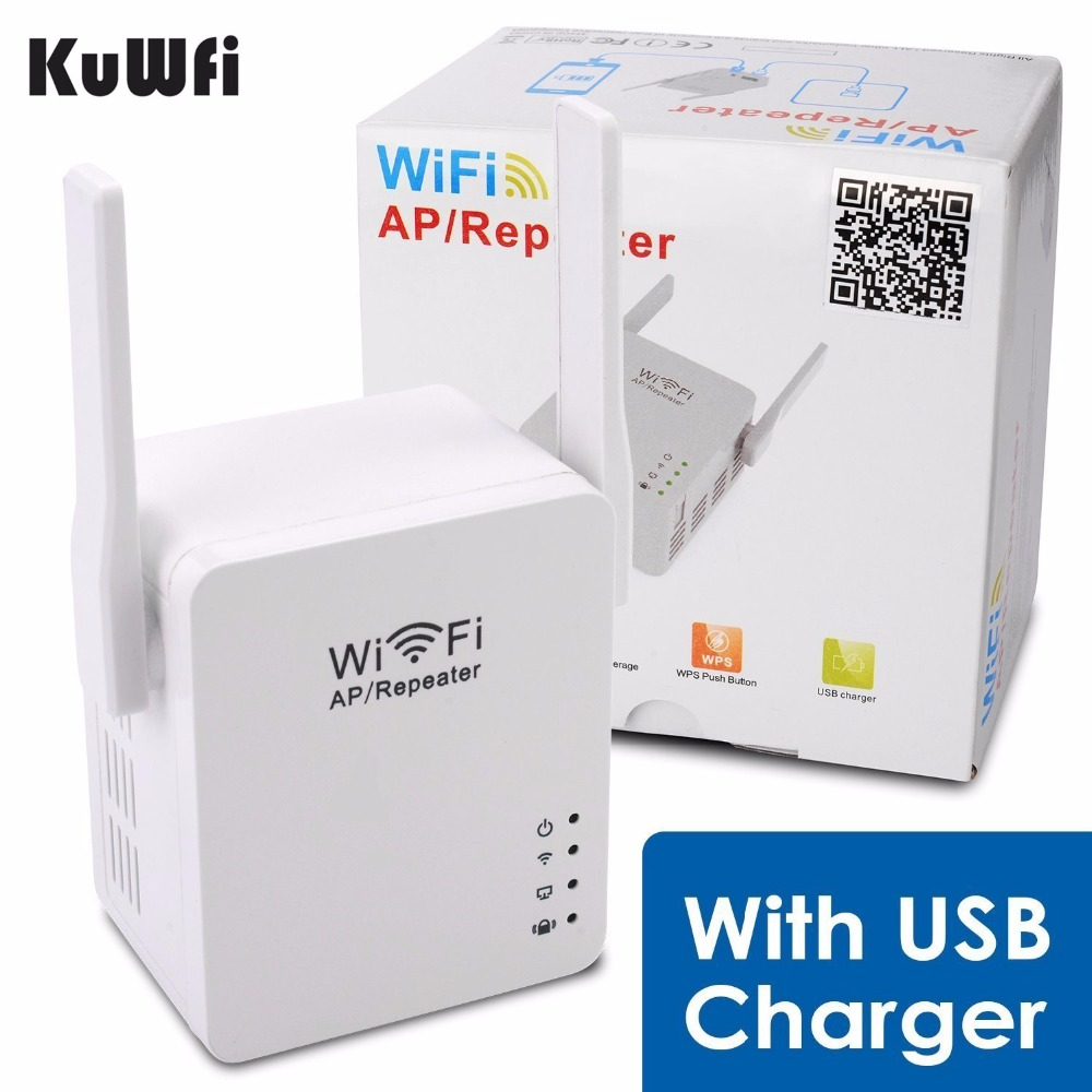 KuWFi USB WiFi Repeater WiFi Range Wifi Extender With Micro USB2.0 Port 5V/2A Support Booster and AP Mode EU US UK AU Plug