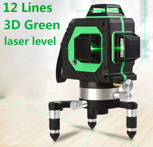 12Lines 3D Laser Level Self-Leveling 360 Horizontal Level with Tilt Slash Function/360 Rotary Self Lleveling Outdoor