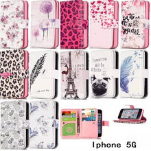With 9 card Slots Relief Wallet Leathers For AppleiPhone 5/5S Varies Pattern For Apple iPhone 5/5S Phone Cover Case Holder(China)