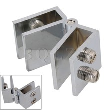 BQLZR Glass Door Clamp Hinge Double Action 180 Degree for Boarded Door