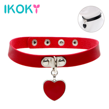 Buy IKOKY SM Bondage Spike Rivet Buckle Collar Sex Toys Couple Slave Restraints Women Fetish Adjustable Adult Games Roleplay