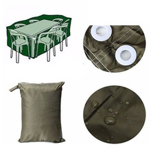 SZS Hot 6 Seater Waterproof Furniture Set Cover Shelter Patio Garden Rectangular Table ArmyGreen