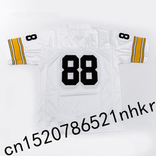 Retro star #88 Lynn Swann Embroidered Name&Number Throwback Football Jersey(China)