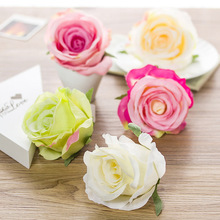 Free Shipping 10pcs DIY Rose Head Artificial Flowers For Decoration Silk flowers Wedding Flowers Favor Box Flower