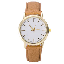 Free shipping 2015 Hot Clean and simple casual student couples of men and women leather fashion watch   W347