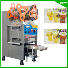 free shipping AC220V  Cup Sealing Machine for food and drink package,fully automatic cup sealer,bubble tea cup sealing machine