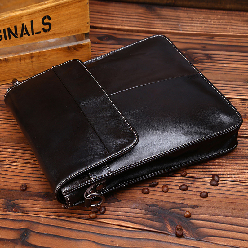 First layer cowhide leather  soft surface male shoulder bag genuine leather mens messenger bag brief case <br>