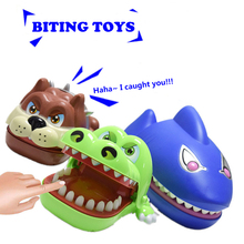 Fun Toys Shark Bulldog Crocodile Dentist Bite Finger Game Toys Family Novelty Antistress Funny Teeth jokes Prank Toy For Kids