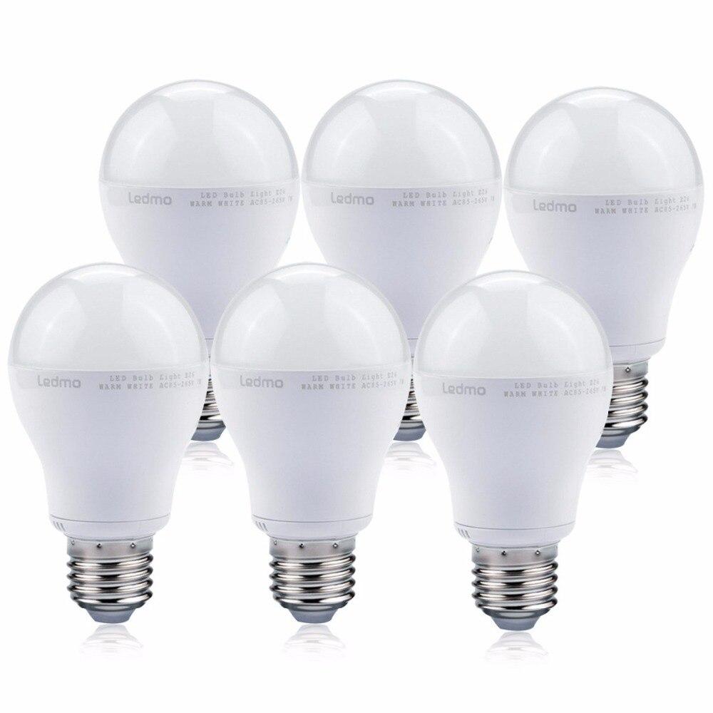 LED Bulbs Lamps Spotlight Table Light Bulbs 7W High Brightness Real Power Lampada E26 Led Bulbs White Pack of 6 Led Lights <br>