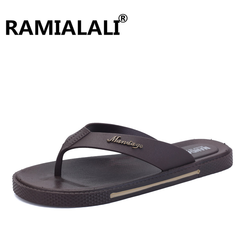5b45787141a3 Ramialali Beach Flip Flops Men Slippers Shoes Comfortable Men S ...