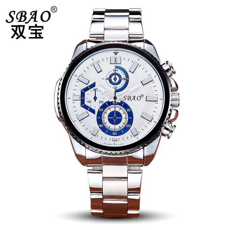 SBAO Mens Watches Top Brand Luxury Big Dial Full Steel Quartz Watch Hot Sale Male Fashion Sport Business WristWatch Reloj Hombre<br><br>Aliexpress