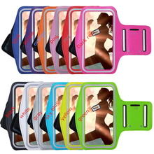 Mobile Phone Armbands Gym Running Sport Arm Band Cover For Lenovo A6000 Phone Bags Adjustable Armband protect pouch Case(China)