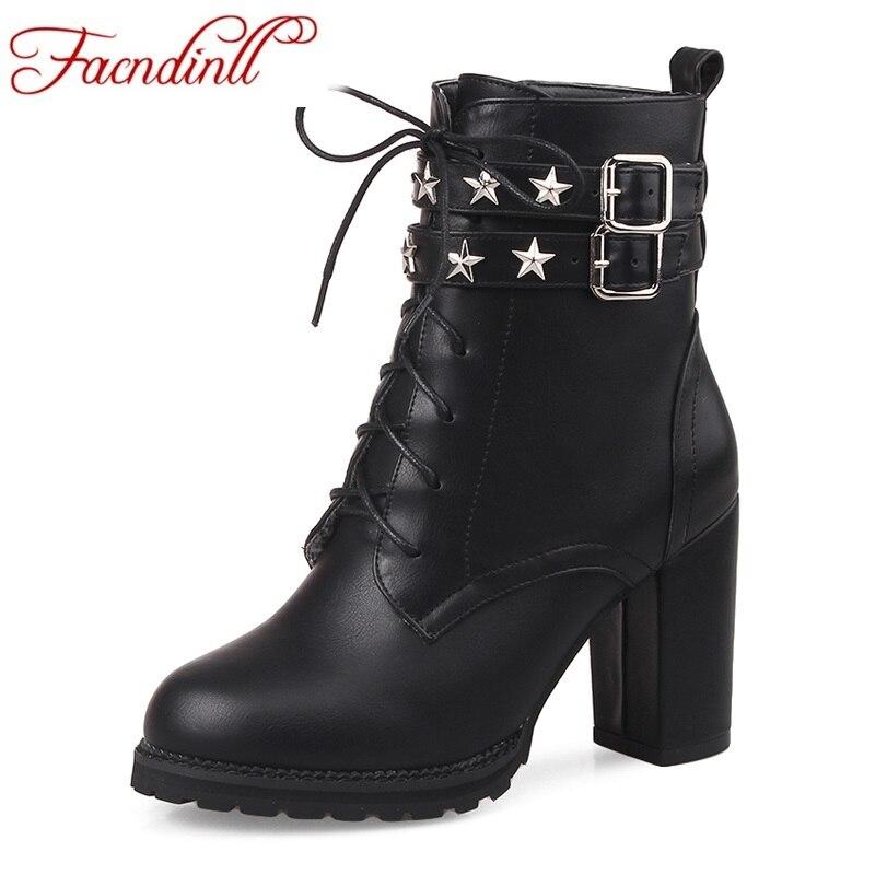 2017 new fashion sexy ankle boots high heels punk rock platform shoes woman autumn winter boots black zipper women riding boots<br><br>Aliexpress