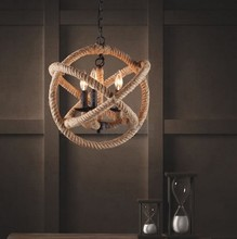 FREE SHIPPING EMS style pendant light personality hemp rope pendant light nostalgic vintage pendant light preparation