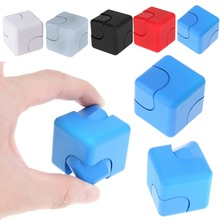 Mini Fidget Spinner Cube Plastic Cube Toy for Anxiety ADHD Stress Relieves Hand Finger Cube Magic Cube Toys Adult Kids Toys