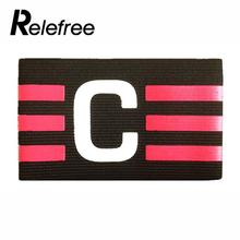 Relefree 1Pcs Football Soccer Flexible Sports Player Bands Captain Armband Arm Band Colorful(China)
