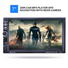 "7021G 7"" inch 2 Din Car MP5 Player GPS Navigation Bluetooth Auto Multimedia Player with FM Radio Rear View Camera Remote for BMW"