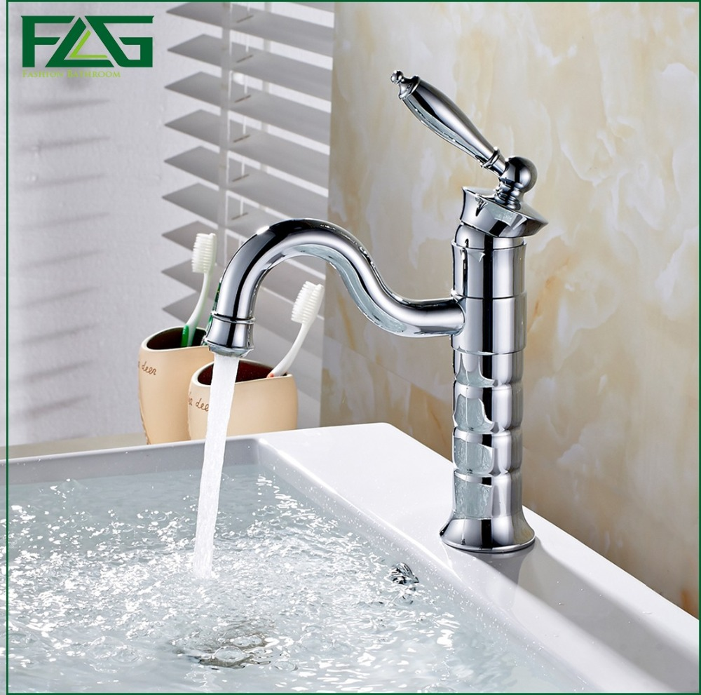 FLG Bathroom Products Chrome Finished Hot and Cold Water Basin Faucet Mixer,Long Spout Single Handle water Tap Torneira 212-11<br><br>Aliexpress