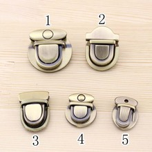 5Pcs/lot Duck tongue lock DIY Handwork Luggage Accessories Doctor Bag mortise lock Bronze Colors 5 Design pick your own Design