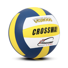 CROSSWAY Official Size 5 Soft Touch Indoor Compitition Training Beach Volleyball Game Ball Superfine Fiber Volley Ball(China)