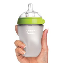Silicone Baby Bottle baby milk silicone feeding bottle(Spoon bonus)(China)