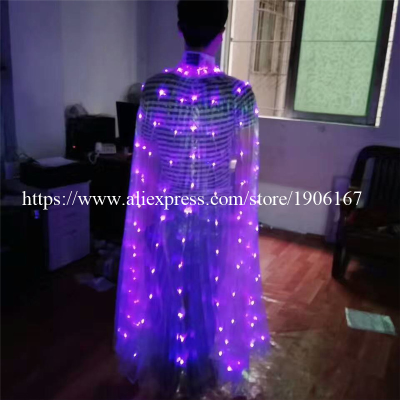 2017 Stafe Performance Prop Women Dancewear Girls DJ LED Wings Light Up Wings Belly Dance Wing Costume09