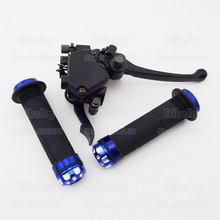 "Thumb Throttle Housing Accelerator Brake Lever + Both Sides 7/8"" 22mm Hand Grips For 125cc 150cc 200cc 250cc ATV Quad Motorcycle"