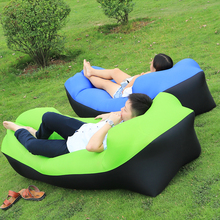 10 Seconds Quick Open Air Sofa Fast Inflatable Sleeping Bag Lazy Sleeping Bed Folding Sofa Beach Sleep Bed Outdoor Camping chair(China)