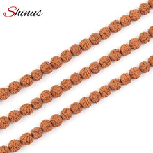 Shinus Buddhist Rudraksha Beads Jewelry Making Mala Prayer 108Pcs Bodhi Bead Stone Tibetan Buddhism Bracelet Chakras Meditation (China)