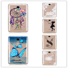 Soft TPU Capinha Case For Xiaomi Redmi Note 3 Cover Wind chime Feather Dandelion Butterfly Peach blossom pineapple Skin(China)