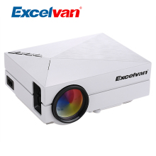 Excelvan GM60 Mini Portable Projector LCD Digital Projector 800*480 1200Lumen Home Theater Beamer HDMI VGA SD input For Video/TV(China)