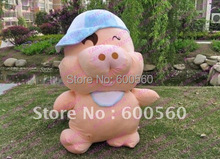 Large 150cm Stuffed Giant Plush Pig Toy McDull Pigs Doll  Hot Sale Gifts for Birthday 1pc