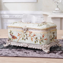 Luxurious Palace Tissue Boxes Home Decoration Accessories Resin Tissue Box Cover Napkins Box Boite Mouchoir Caixa Organizadora(China)