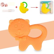 3Pcs/Set Silicone Elephant Pacifier BPA Free Baby Teether Hand Made Funny Colorful Pacifier Soother with Nose Clean & Box